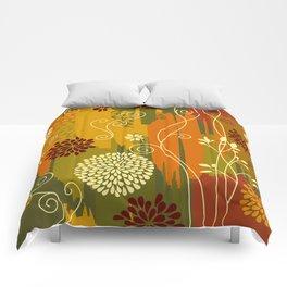 Boho Floral Pattern Comforters
