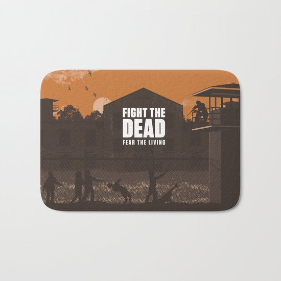 The Walking Dead Prison Walkers Bath Mat