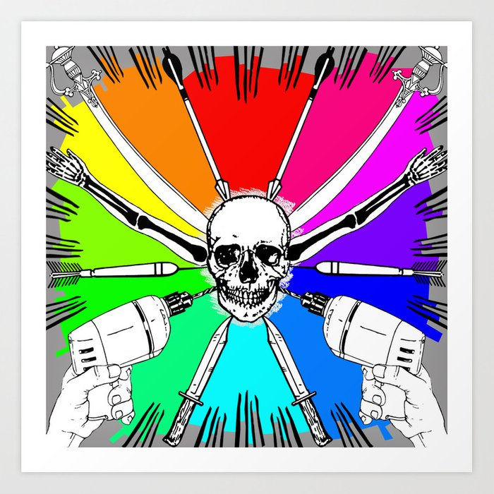 ColorWheel Art Print
