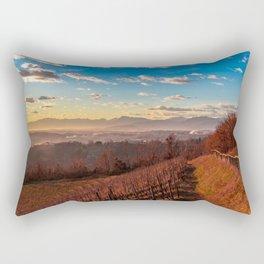 Colorful sunset in the italian vineyards Rectangular Pillow