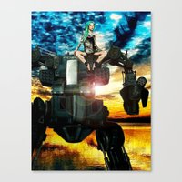 heavy metal Canvas Prints featuring Heavy Metal by Danielle Tanimura