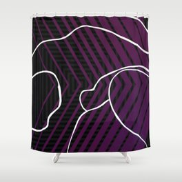 Lined - arrow Shower Curtain