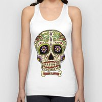 mexican Tank Tops featuring Mexican Skull !!! by Adrian Filmore