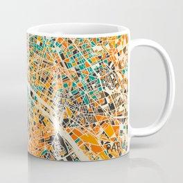 Paris mosaic map #3 Coffee Mug