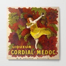 Vintage poster - Liqueur Cordial-Medoc Metal Print