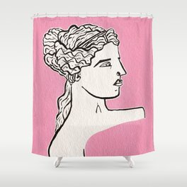 Venus de Milo statue Shower Curtain