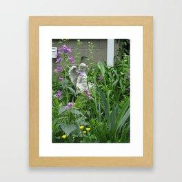 garden angel 3 Framed Art Print