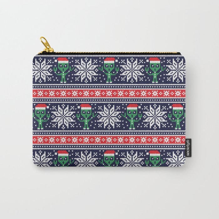 Christmas aliens Carry-All Pouch