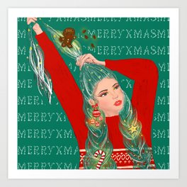 Have Yourself A Merry Little Xmas! Art Print