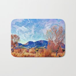Monet's Surreal Southwest Landscape Bath Mat