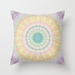 Mandala pastel no. 3  Throw Pillow