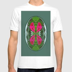 Flower Globe MEDIUM White Mens Fitted Tee