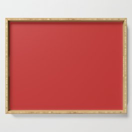 Madder Red Serving Tray
