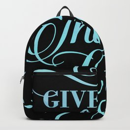 Give Thanks To The Lord Psalm Christian Religious Blessed Backpack