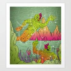 Fantastic Caverns! Art Print