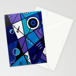 Blue Geometric Stationery Cards