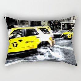 New York Taxis Art Rectangular Pillow