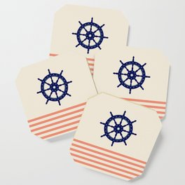 AFE Navy Helm Wheel Coaster