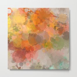 Modern contemporary Yellow Orange Abstract Metal Print