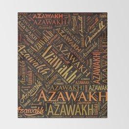 Azawakh dog Word Art Throw Blanket