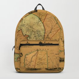 Map Of Waterbury 1852 Backpack