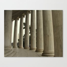 Washington Monument as seen from the Jefferson Memorial Canvas Print