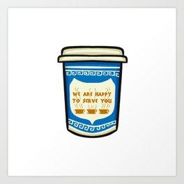 NYC Coffee Cup Art Print