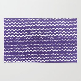 Abstract violet white watercolor geometrical chevron zigzag Rug