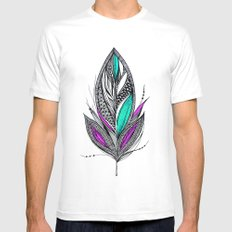 Harvest Feather 2 Mens Fitted Tee White MEDIUM