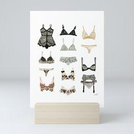 Lingerie Collage Mini Art Print