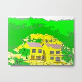 Mountain Villas Metal Print