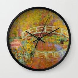 Claude Monet Japanese Footbridge in Monet's Garden 1896 Wall Clock