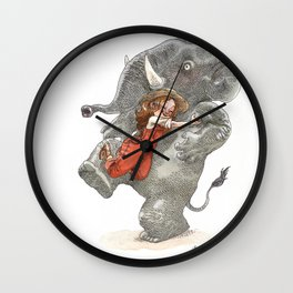 Elephant Hug Wall Clock