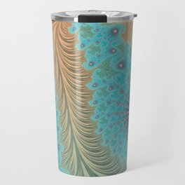 Aquae - Fractal Art Travel Mug