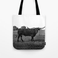 bull Tote Bags featuring Bull by vogel
