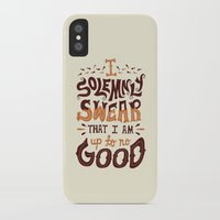 risa rodil iPhone & iPod Cases featuring I am up to no good by Risa Rodil