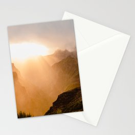 Magical Sunset in the Madeira Mountains Stationery Cards