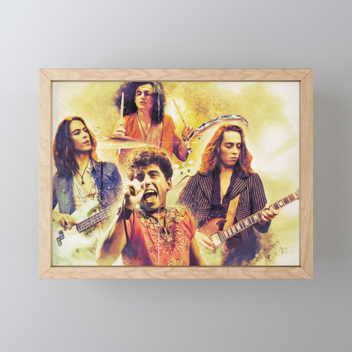 Greta Van Fleet march of the peaceful army tour 2019 sil2 Framed Mini Art Print