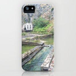 Outside castle walls in Kotor, Montenegro iPhone Case