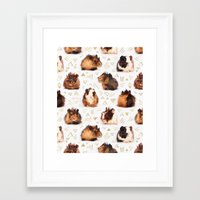 guinea pig Framed Art Prints featuring The Essential Guinea Pig by micklyn