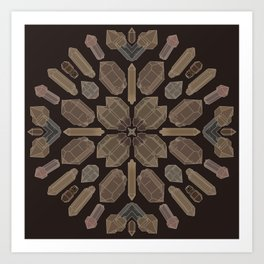 Earthy Quartz Crystals Art Print