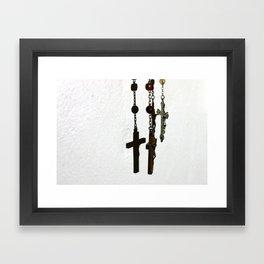 Silhouetted Faith Framed Art Print