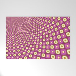 Groovy Pink Psychedelic Pattern Welcome Mat