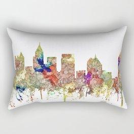 Atlanta, Georgia Skyline SG - Faded Glory Rectangular Pillow