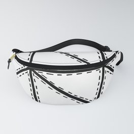 Marker Patchwork – Triangles and Rectangles – Black and White Fanny Pack