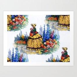 Crinoline Lady Art Print
