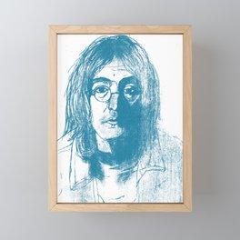 John in Blue Framed Mini Art Print