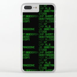 Source code led 01 big Clear iPhone Case