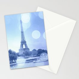 Paris Eiffel Tower Blue Stationery Cards