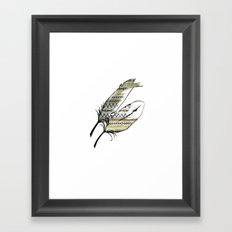 Tribal Feather Sunshine Framed Art Print